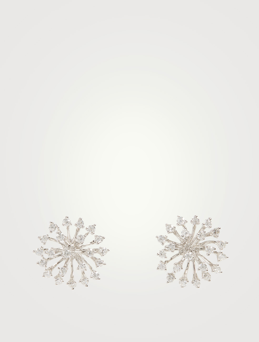 HUEB Luminus 18K White Gold Earrings With Diamonds Women's Metallic