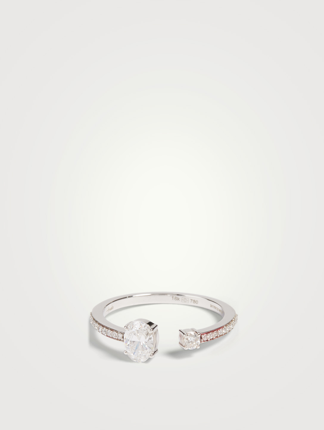 HUEB Bague Spectrum en or blanc 18 ct sertie de diamants Femmes Métallique