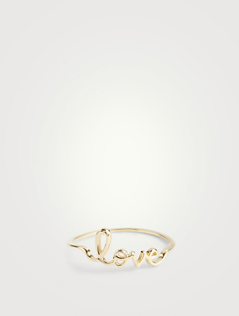 SYDNEY EVAN 14K Gold Small Pure Love Ring Women's Metallic