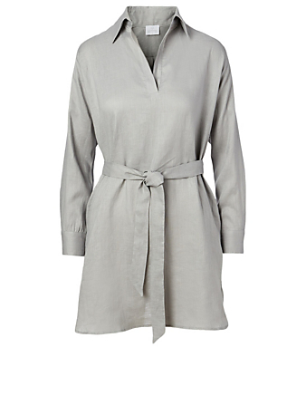 POUR LES FEMMES Linen Shirt Dress H Project Grey