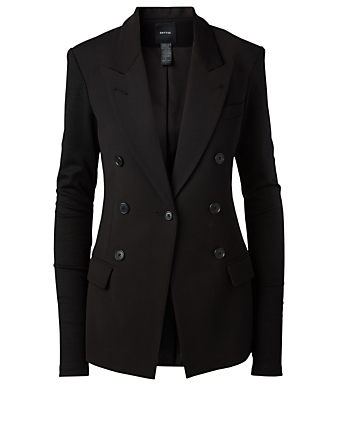 SMYTHE Not A Double-Breasted Blazer Women's Black