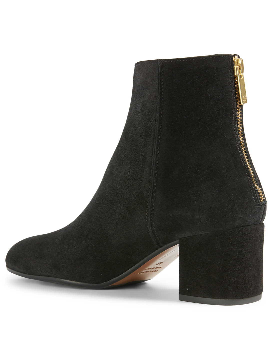 ATP ATELIER Mei Suede Heeled Ankle Boots Women's Black