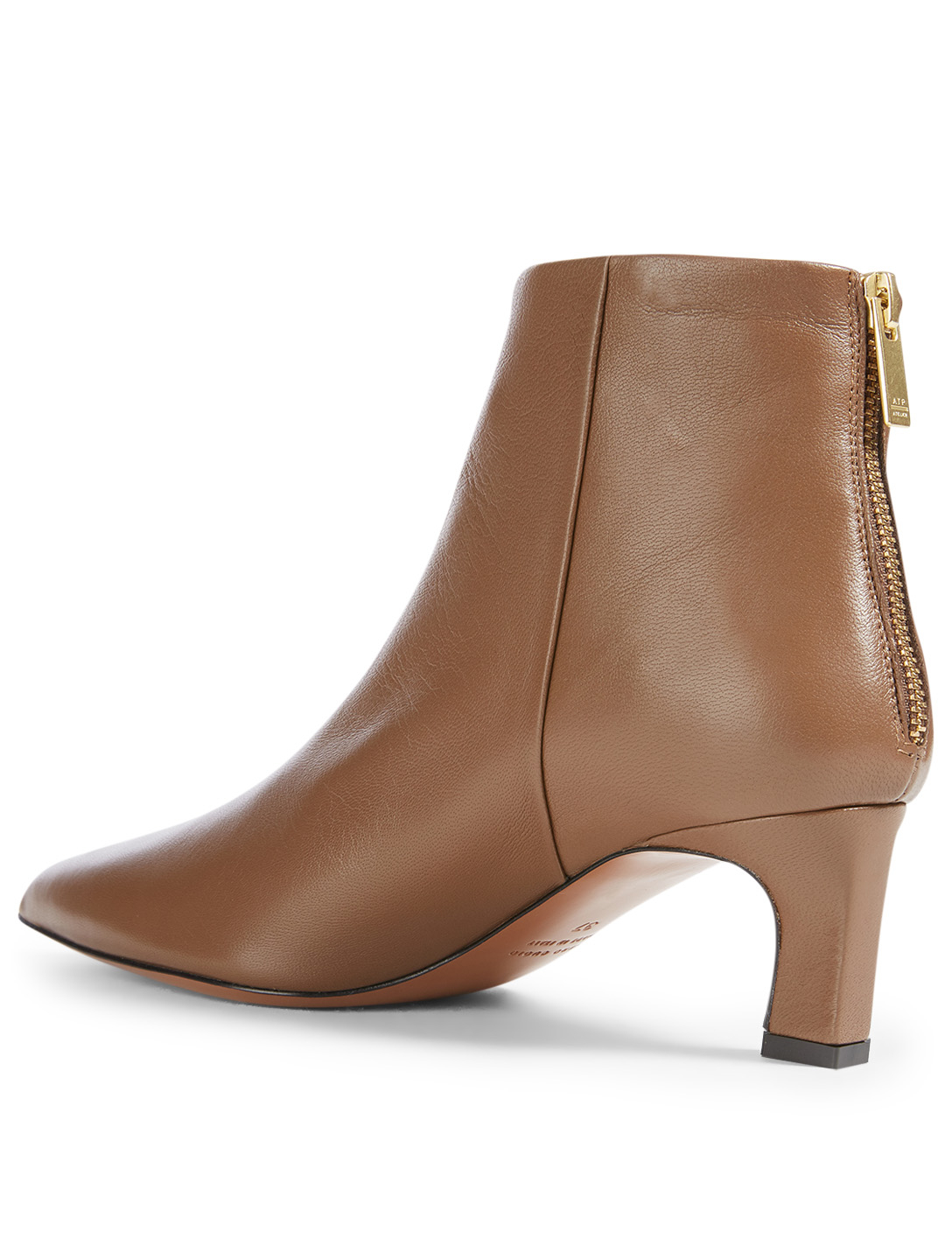 ATP ATELIER Messina Leather Heeled Ankle Boots Women's Brown