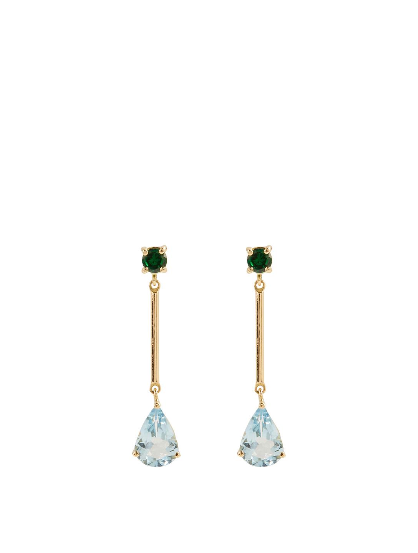 Modische Ringe Dekoration Tangyongjiao Sch/önheit /& Mode 3 in 1 Gold Kette Wassertropfen Form Kristall Ohrringe Halskette Verstellbare Ringe Set Frauen Schmuck Sets Wei/ß Farbe : Green