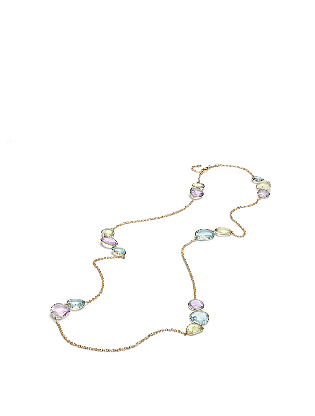 KIKI MCDONOUGH Candy 18K Gold Long Necklace With Multicolour Stones Women's Metallic