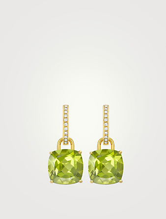 KIKI MCDONOUGH Kiki Classics 18K Gold Earrings With Peridot And Diamonds Women's Metallic