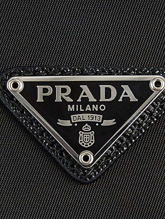 PRADA Nylon And Leather Crossbody Phone Bag Men's Black