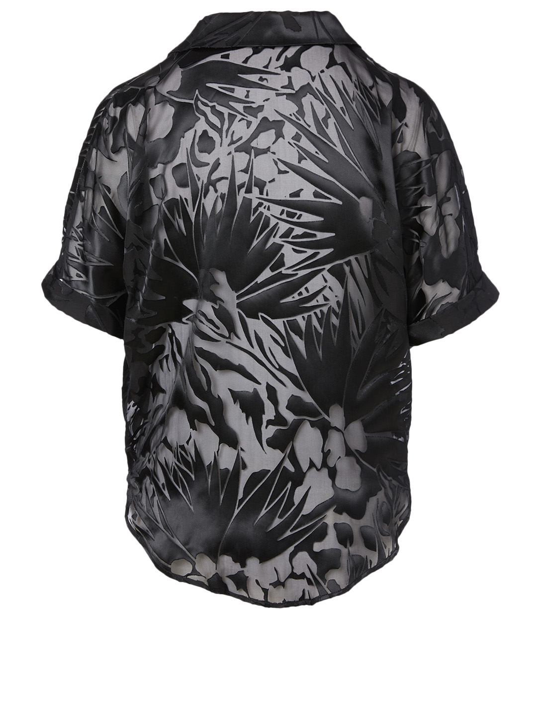 SAINT LAURENT Silk-Blend Top In Jungle Print Women's Black