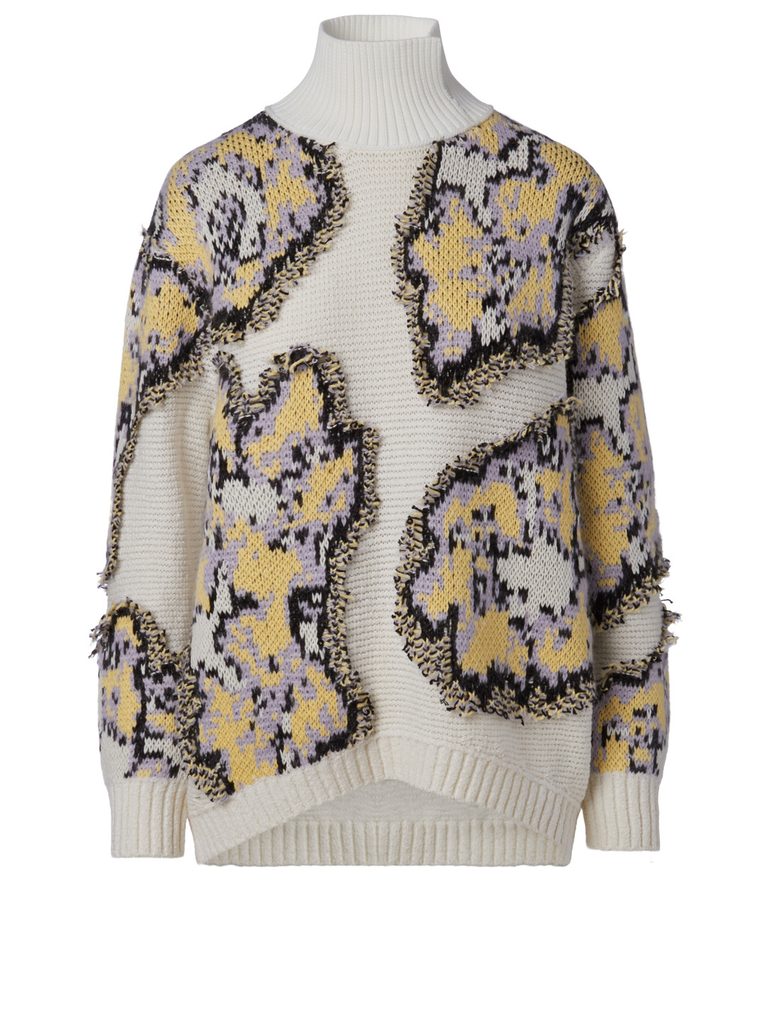 3.1 PHILLIP LIM Wool-Blend Sweater In Abstract Daisy Print Women's White