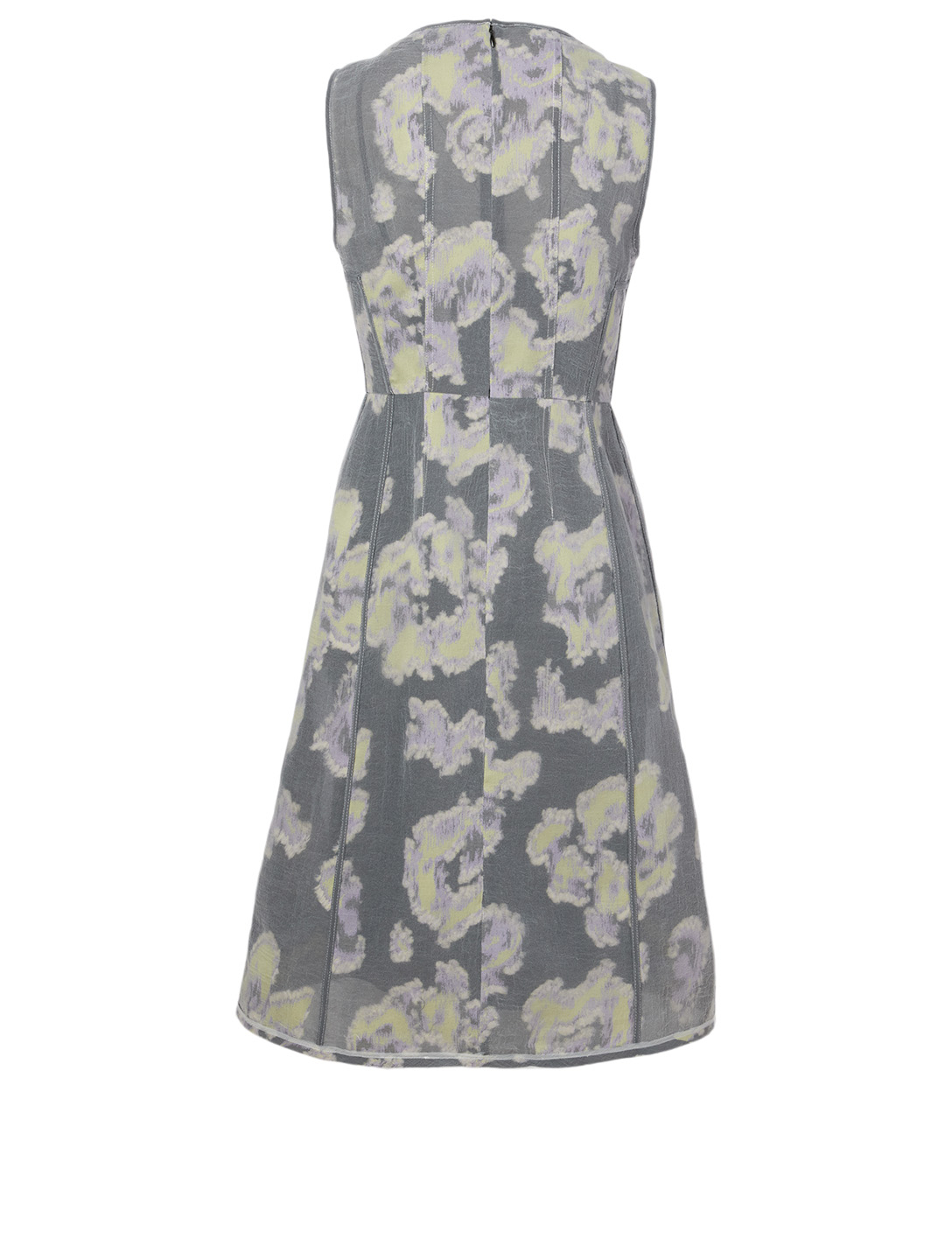 3.1 PHILLIP LIM Silk-Blend Dress In Daisy Print Women's Purple