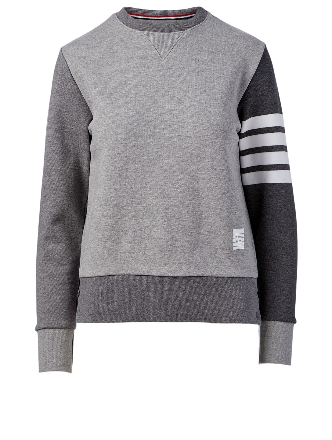 THOM BROWNE Crewneck Four-Bar Sweatshirt Women's Grey