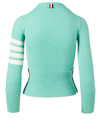 THOM BROWNE Cashmere Four-Bar Sweater Women's Green