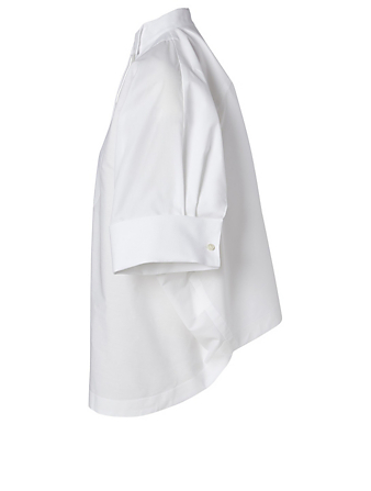 SACAI Oversized Short-Sleeve Shirt Women's White