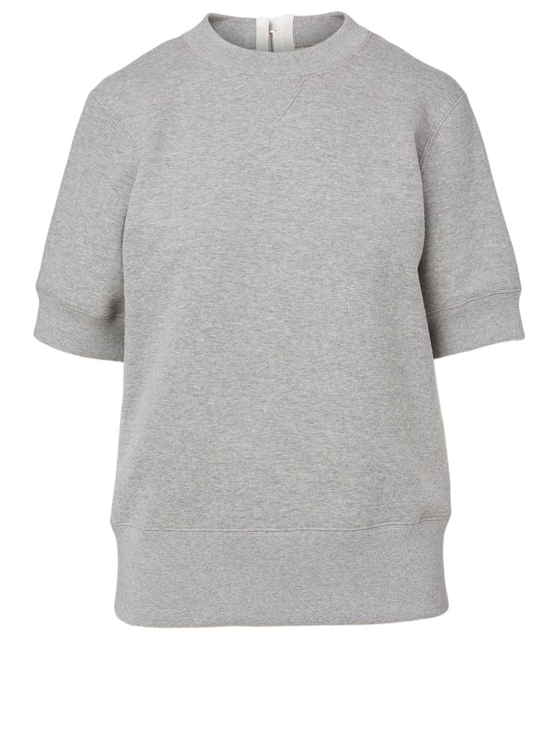 SACAI Short-Sleeve Sweatshirt Women's Grey