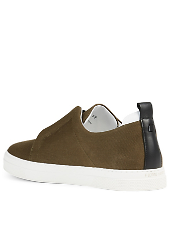 PIERRE HARDY Cotton Drill Slip-On Sneakers Men's Green