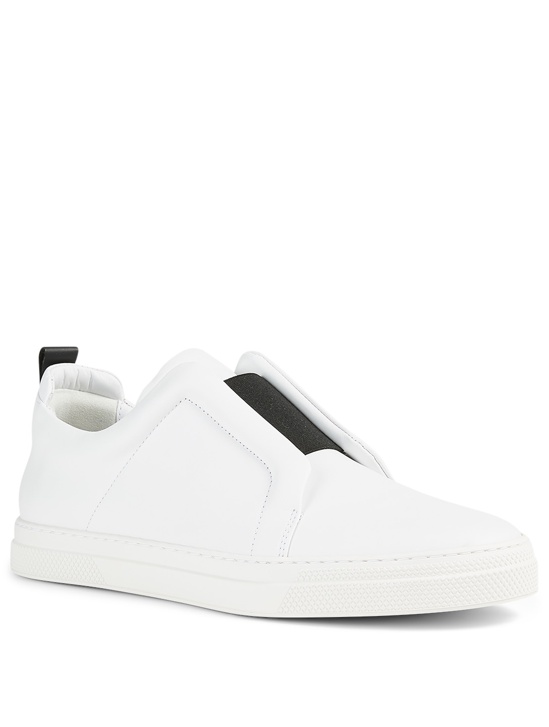 PIERRE HARDY Cotton Drill Slip-On Sneakers Men's White