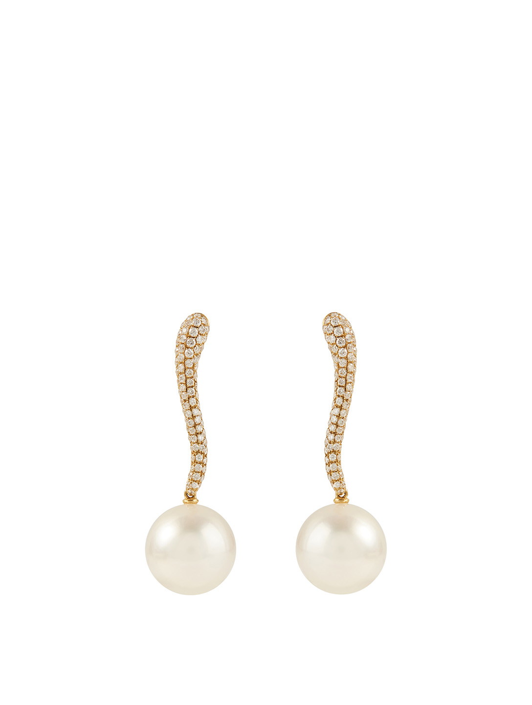 YOKO LONDON 18K White Gold Australian South Sea Pearl And Diamond Earrings Women's Metallic