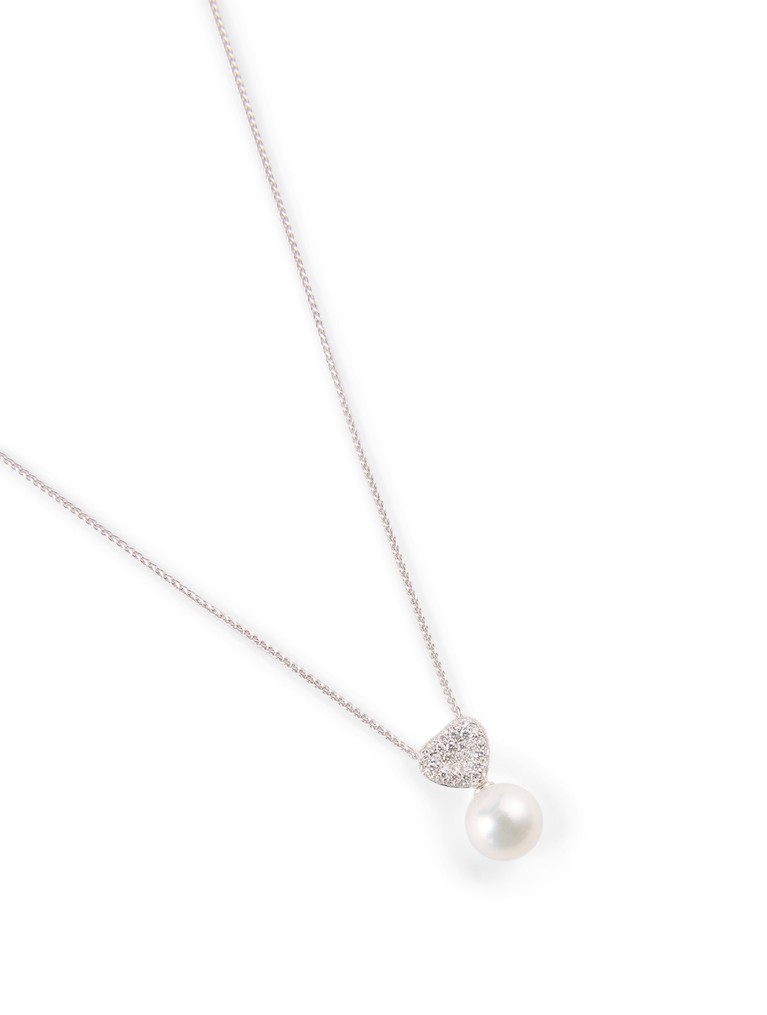 YOKO LONDON 18K White Gold Pearl And Diamond Pendant Necklace Women's Metallic