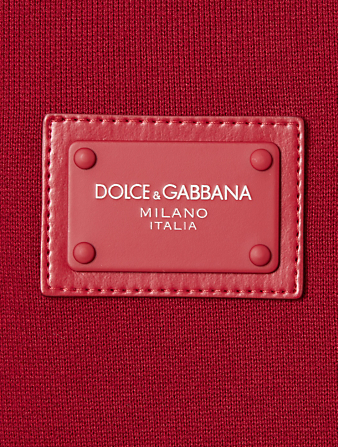 DOLCE & GABBANA Cotton Zip Hoodie Men's Red