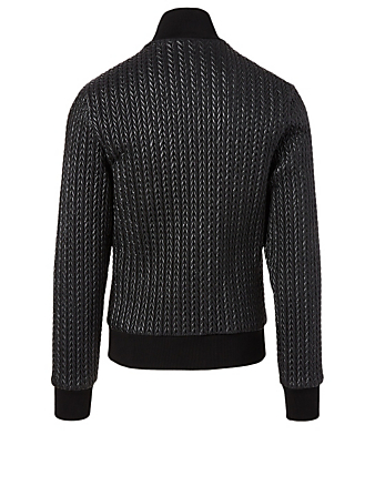 DOLCE & GABBANA Chevron Zip Jacket Men's Black