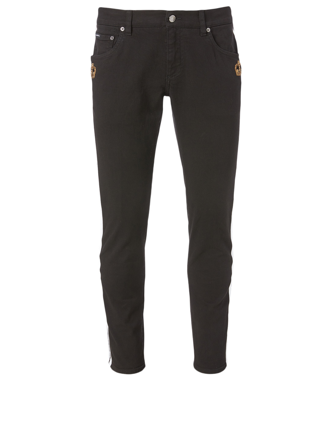 DOLCE & GABBANA Cotton Stretch Skinny Jeans Men's Multi