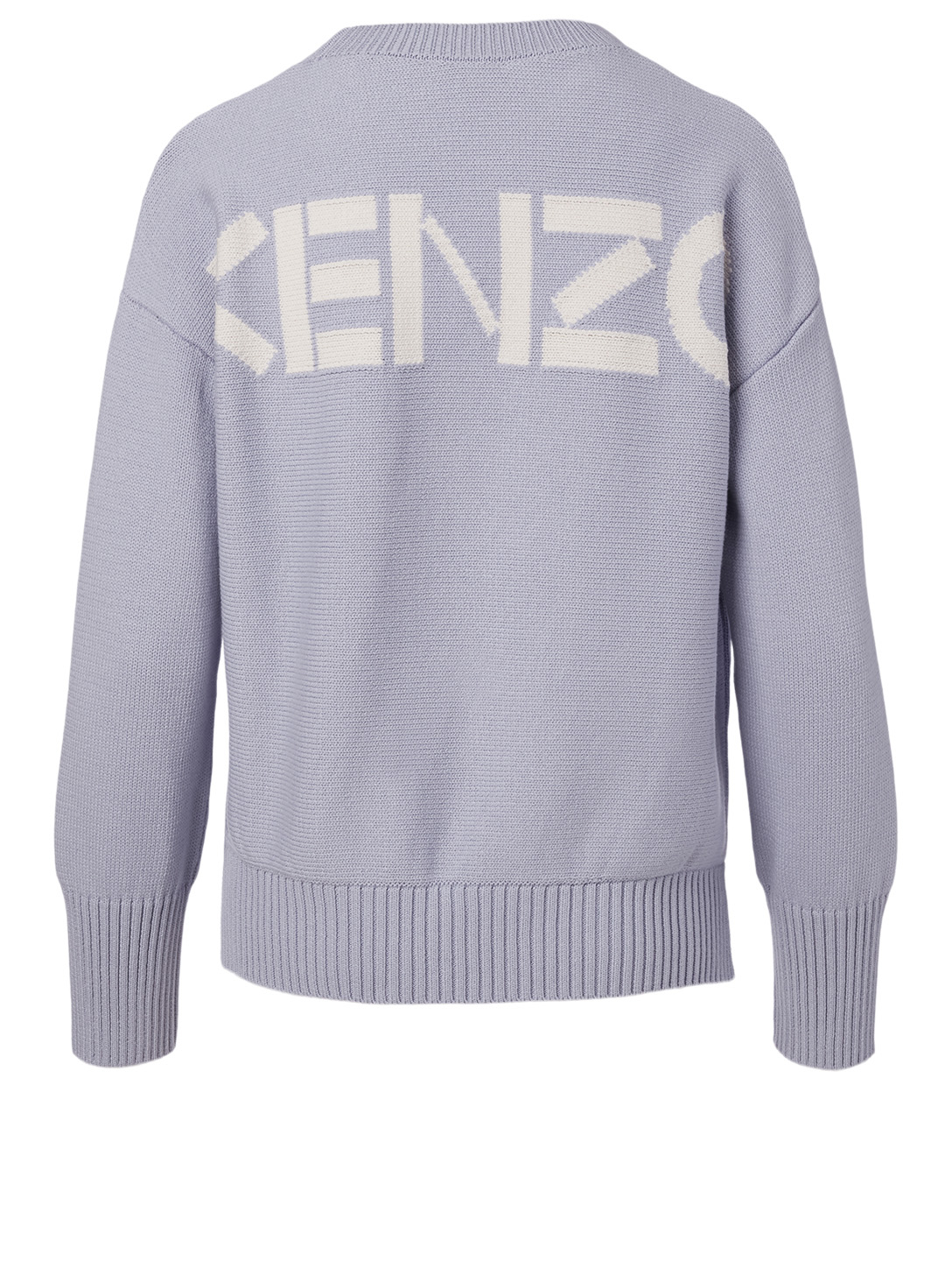 KENZO Cotton-Blend Sweater With Back Logo Women's Purple
