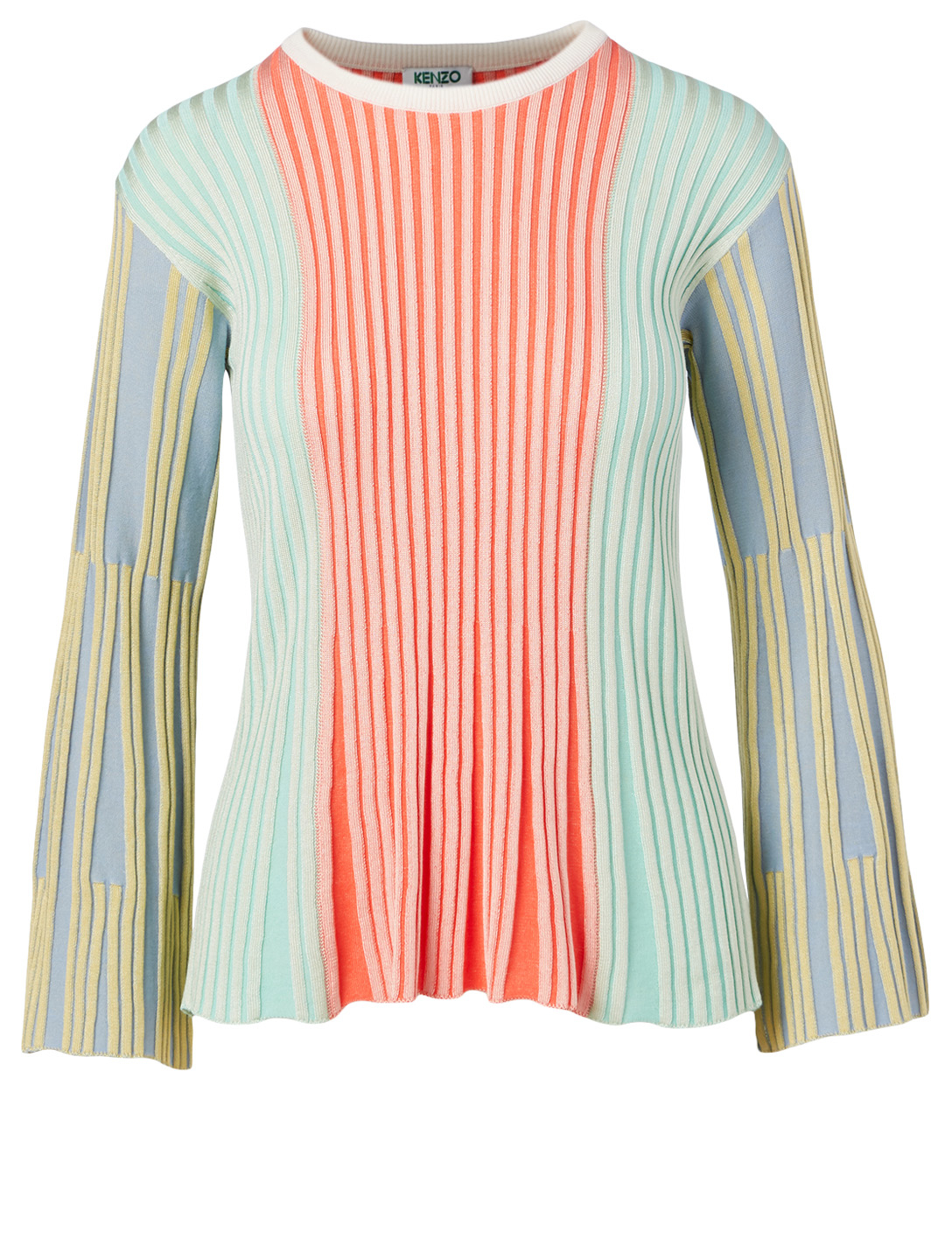 KENZO Ribbed Long-Sleeve Top Women's Multi