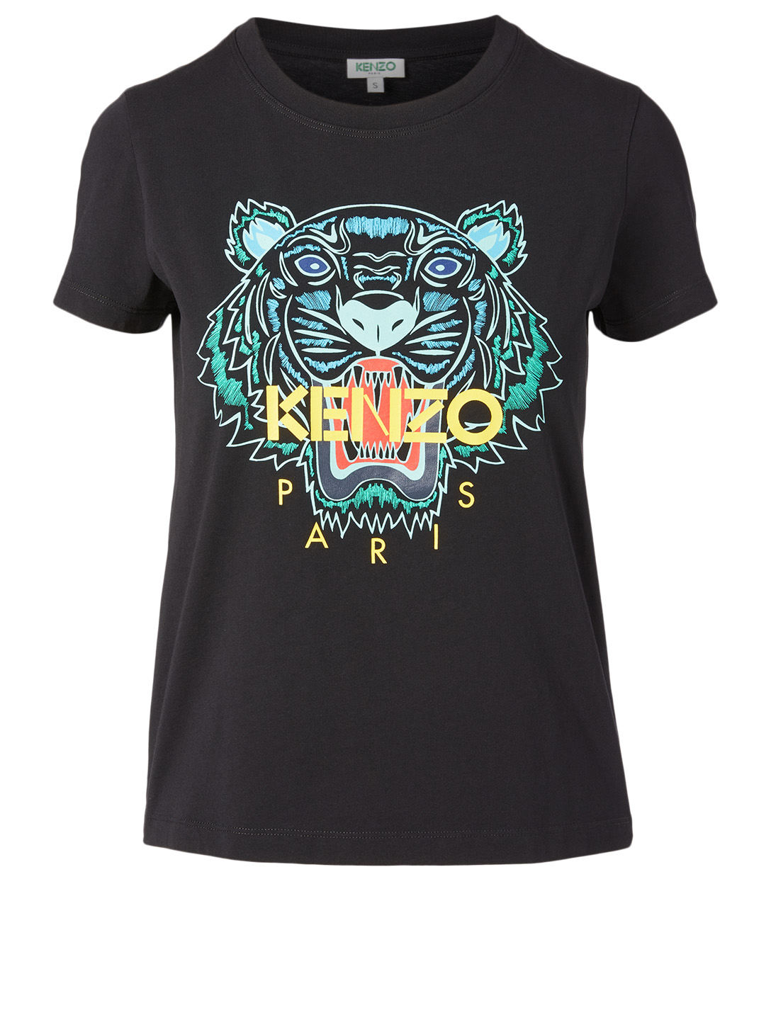 KENZO Cotton Tiger T-Shirt Women's Black
