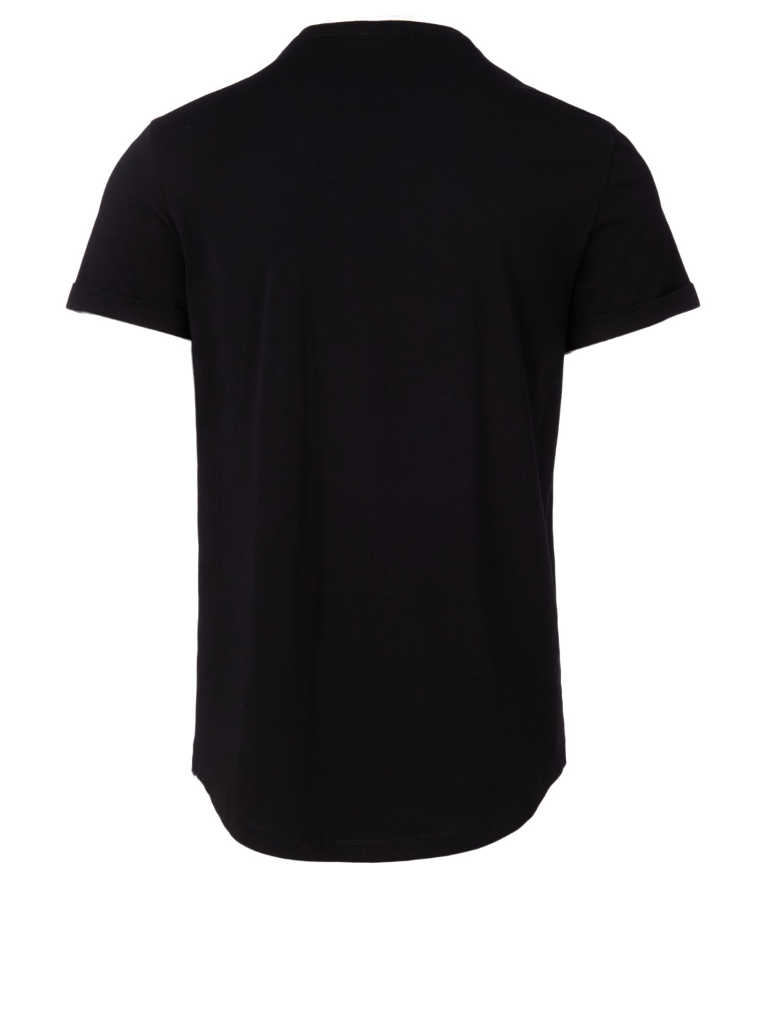 BALMAIN Cotton T-shirt With Medallion Men's Black