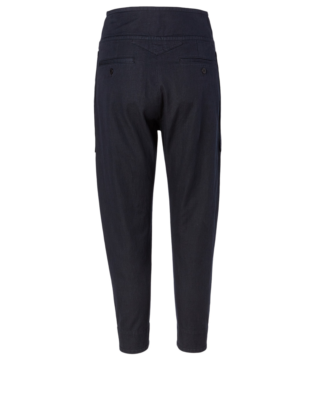 ISABEL MARANT ÉTOILE Raluni Cotton And Linen Pants Women's Black