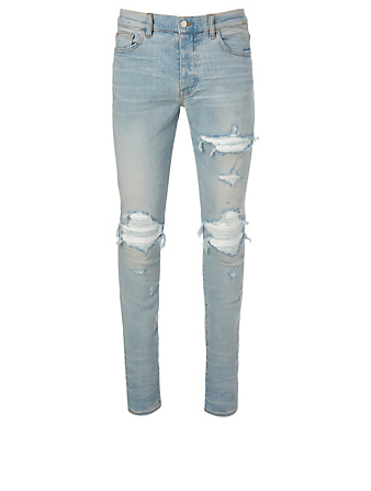 AMIRI MX1 Distressed Skinny Jeans Men's Blue