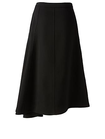 JIL SANDER Mia Wool Asymmetric Skirt Women's Black