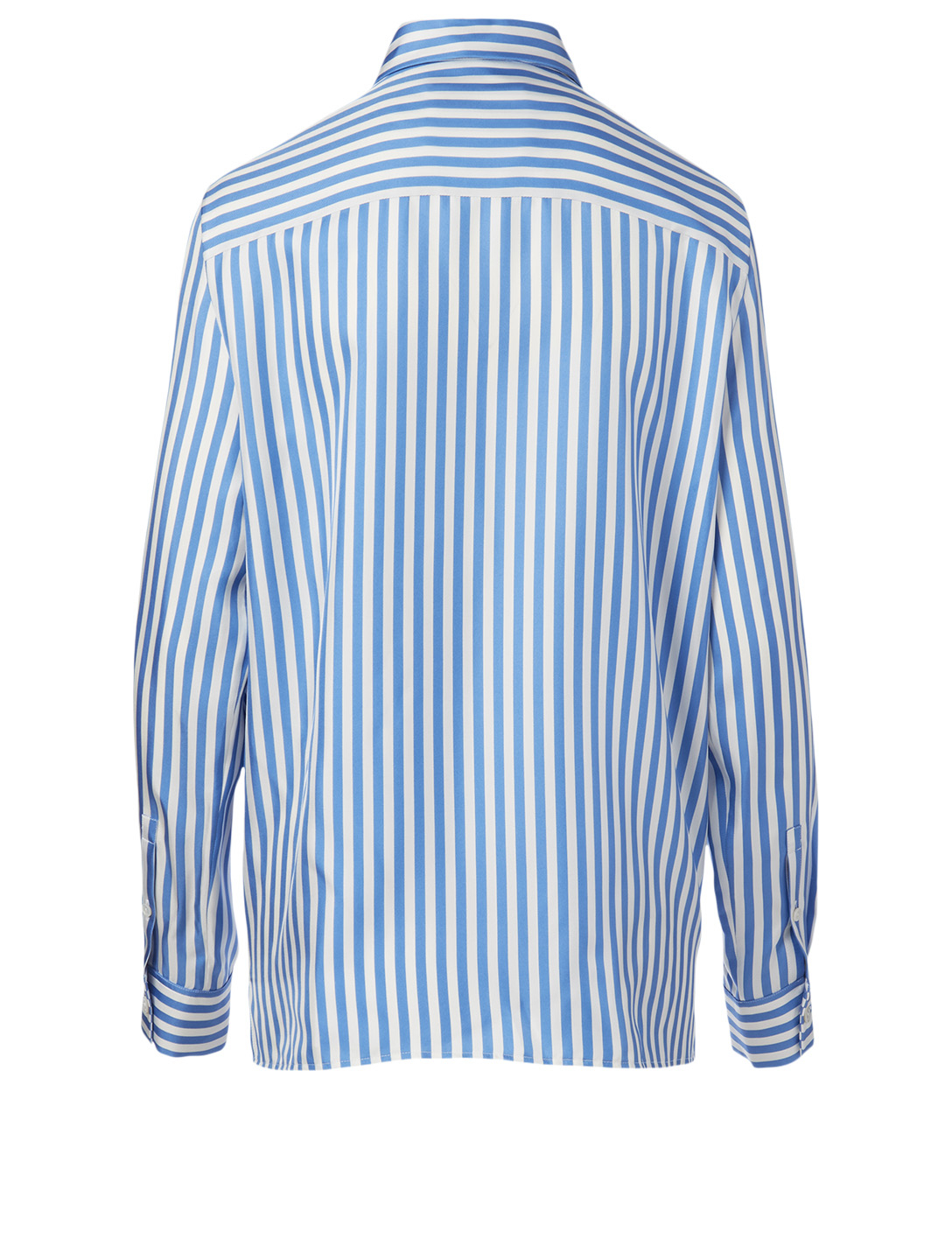 JIL SANDER Silk Shirt In Striped Print Women's Blue