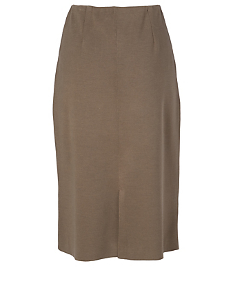 AGNONA Wool And Silk Pencil Skirt Women's Beige