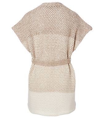 AGNONA Cashmere And Linen Cape Sweater Women's Beige
