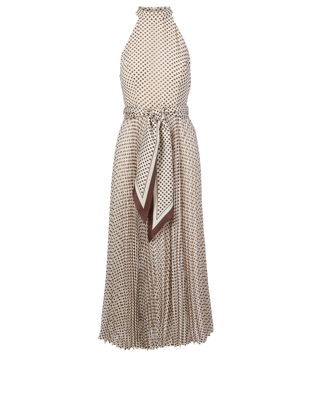 ZIMMERMANN Sunray Long Dress In Polka Dot Print Women's White