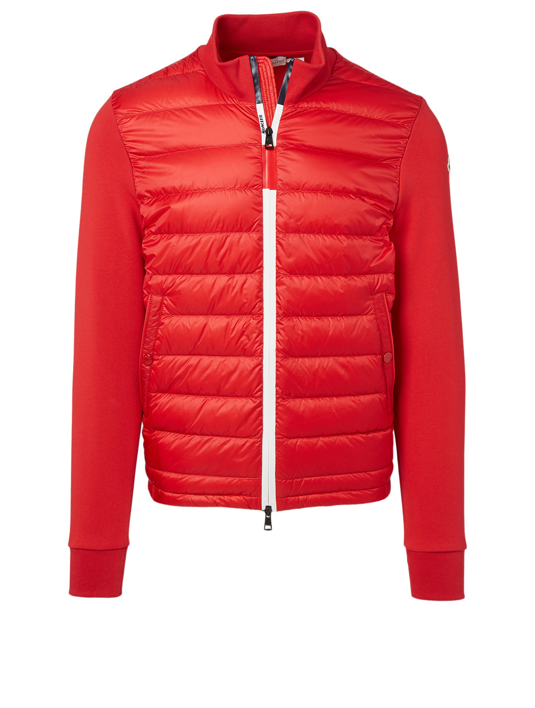MONCLER Quilted Zip Cardigan Men's Red