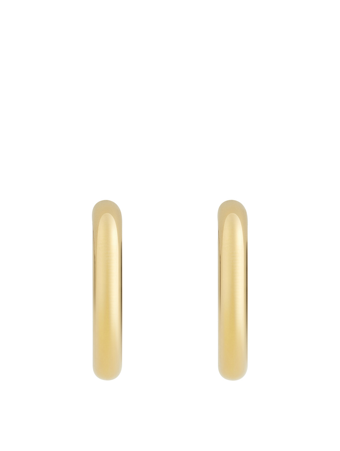 LAURA LOMBARDI Mini Curve Hoop Earrings Women's Metallic