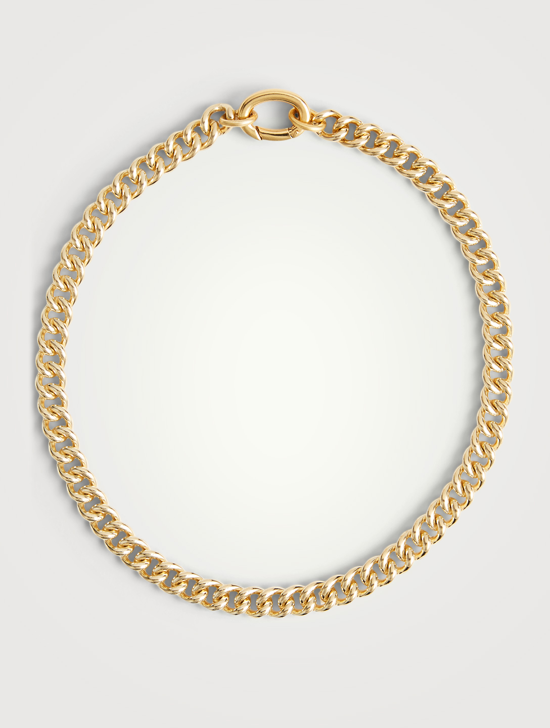 LAURA LOMBARDI 14K Gold Plated Presa Chain Necklace Women's Metallic