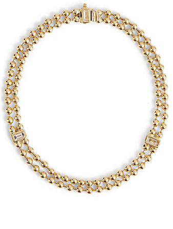MARIA CANALE Flapper 18K Gold Strand Ball Chain Bracelet With Diamonds Women's Metallic
