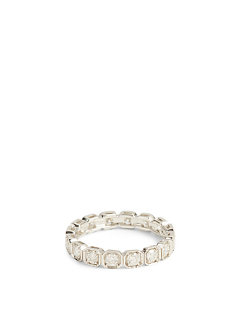 MARIA CANALE Essentials Deco 18K White Gold Eternity Band With Diamonds Women's Metallic
