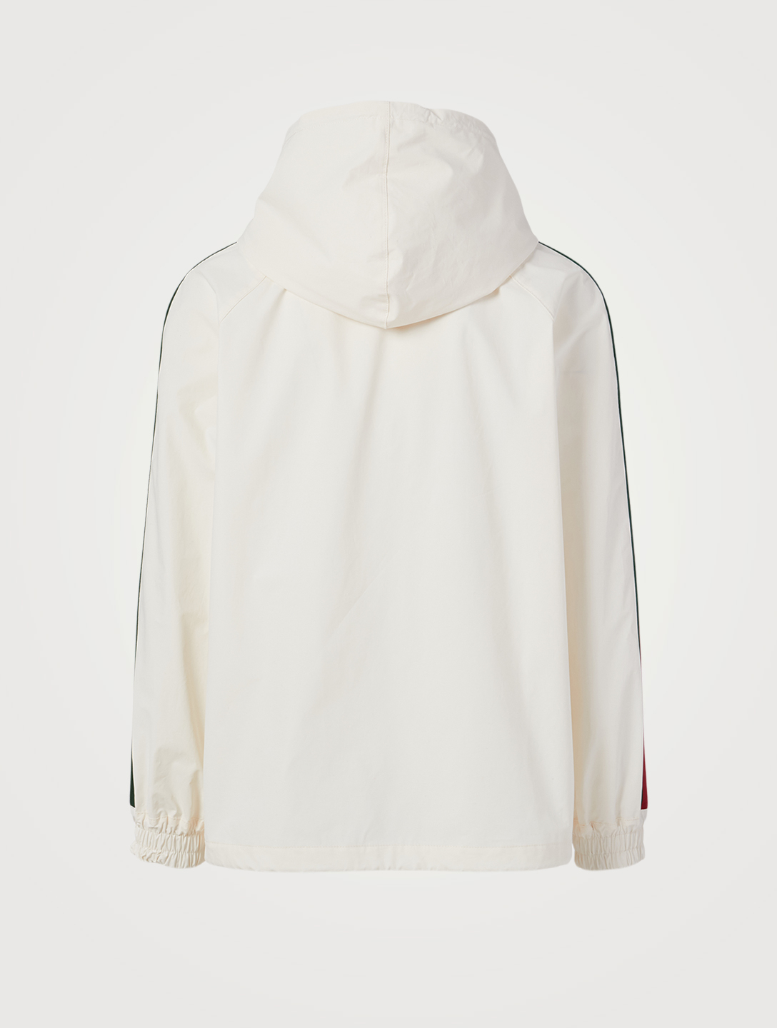 GUCCI Cotton Windbreaker Jacket With Logo Label Men's White