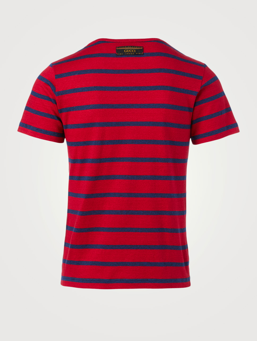 GUCCI DISNEY Linen T-Shirt In Striped Print Men's Red