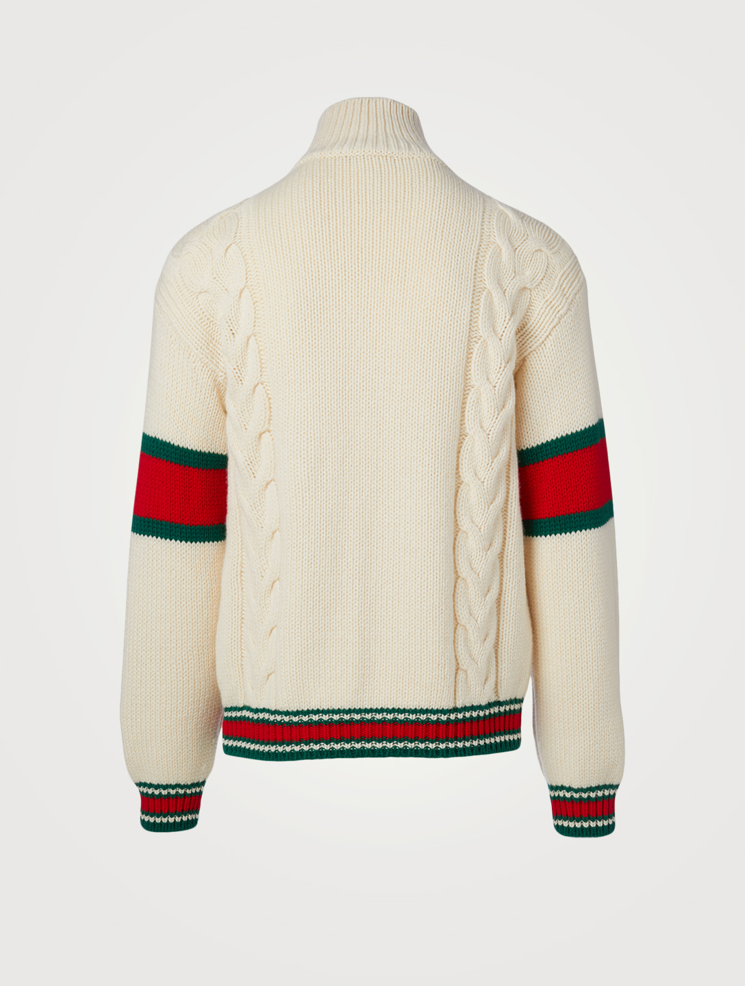 GUCCI Wool Cable Knit Jacket Men's White