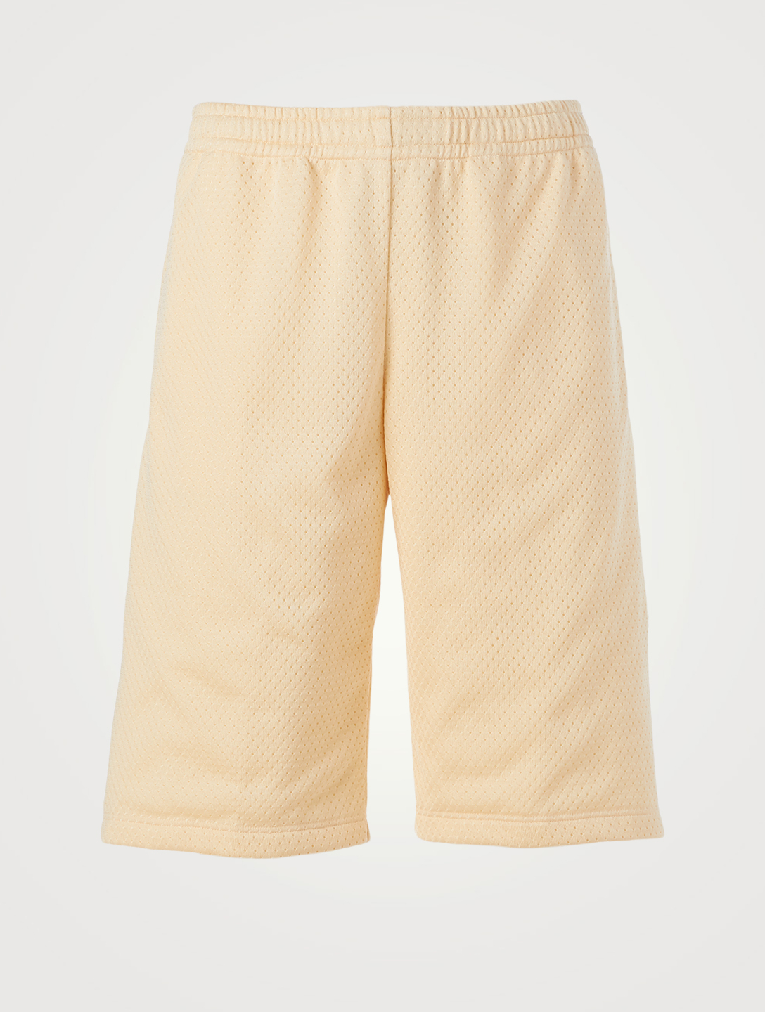 GUCCI Mesh Shorts With Patch Men's White