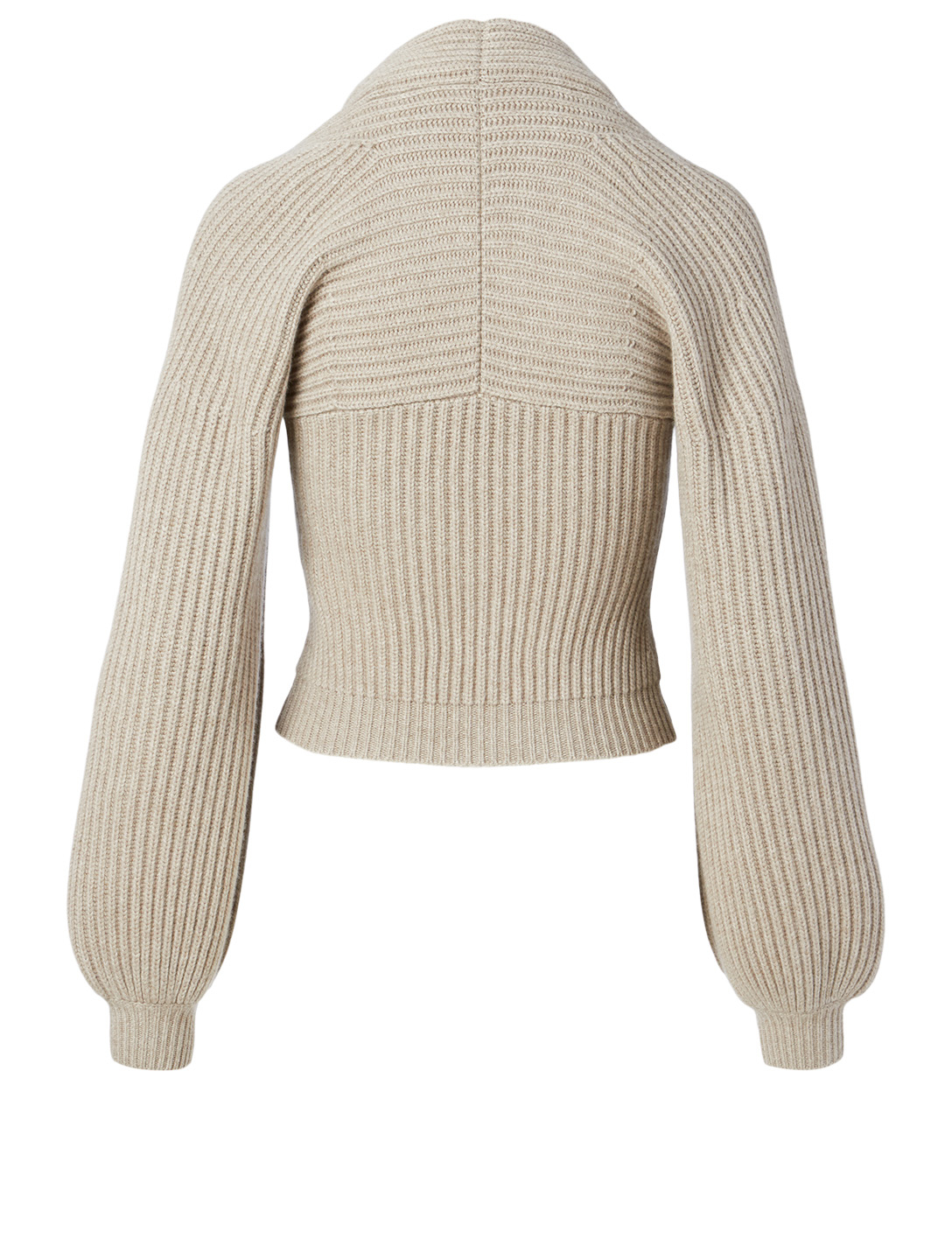 ALEXANDER WANG Wool And Cashmere Draped Neck Sweater Women's Beige