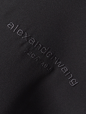 ALEXANDER WANG Silk Shrugged-Off Shirt Dress Women's Black
