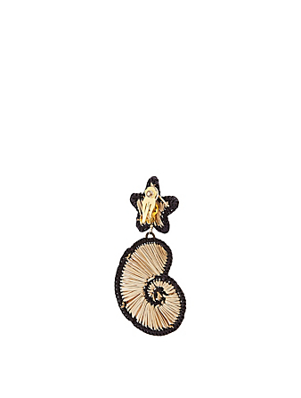 MERCEDES SALAZAR La Isla Iraca Palm And Gold-Plated Bronze Seashell Earrings H Project No Color