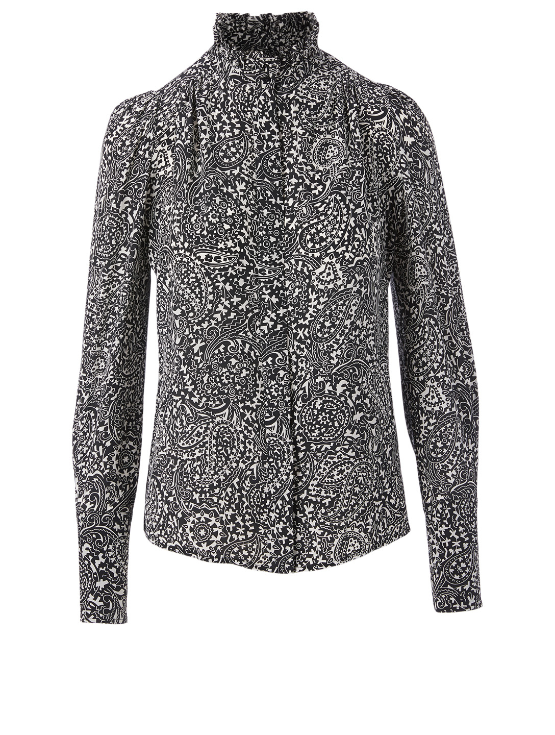 ISABEL MARANT Lamia Silk Blouse In Paisley Print Women's Black