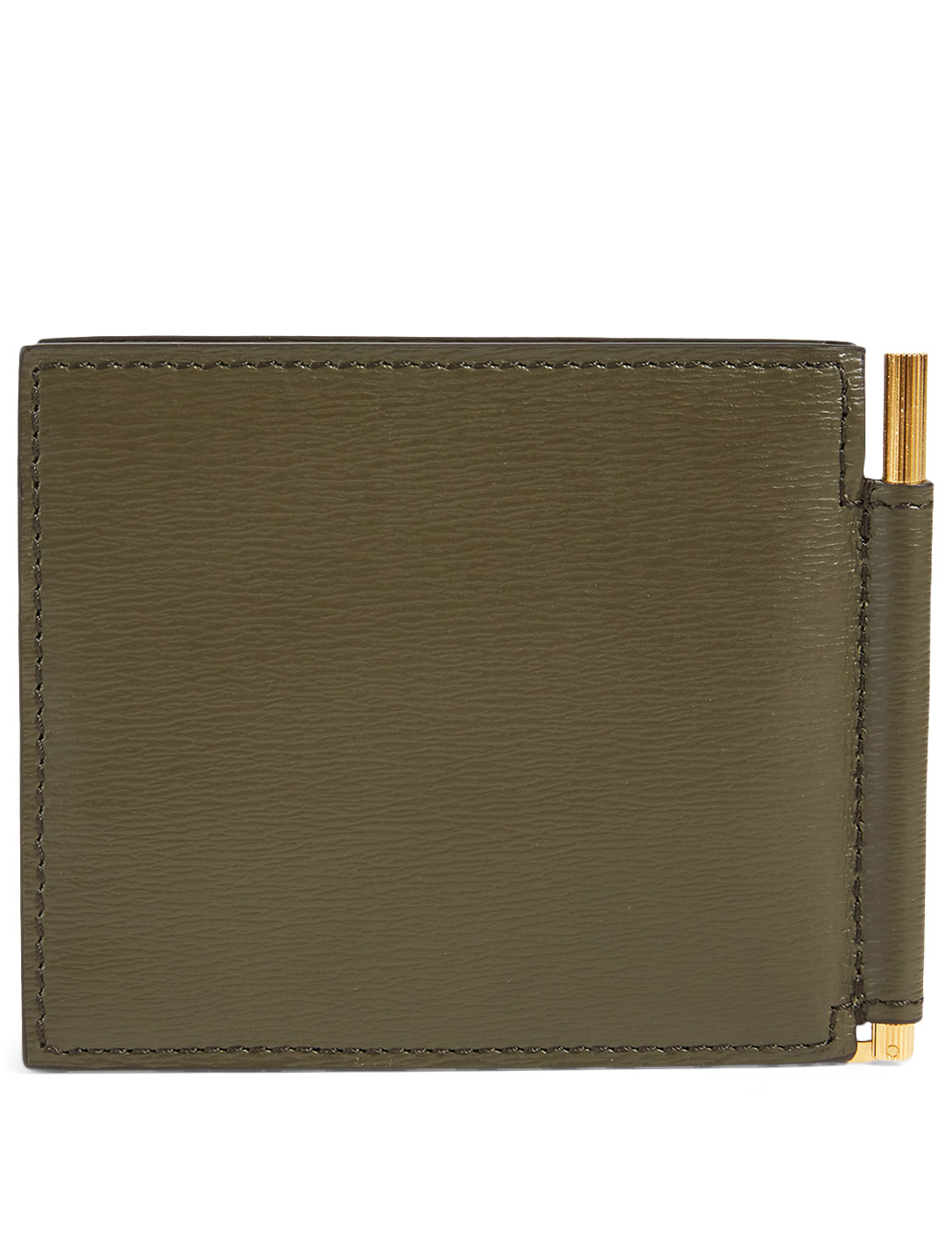 TOM FORD Leather Bifold Wallet Men's Green